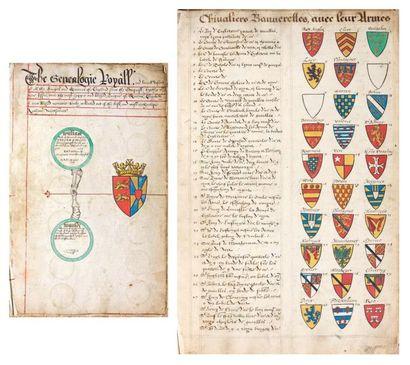 [MANUSCRIT / ANGLETERRE]. «The Genealogie...
