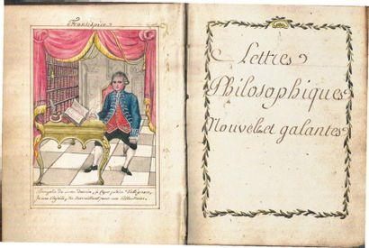 [MANUSCRIT]. «Lettres philosophiques, critiques,...