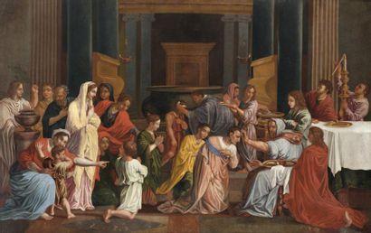 Ecole FRANCAISE du XVIIIème siècle, d'après Nicolas POUSSIN