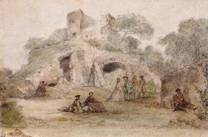 Attribué à Gabriel de SAINT AUBIN (1724 - 1780)