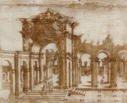 Ecole FRANCAISE du XVIIIème siècle, d'après Jacques ANDROUET du CERCEAU