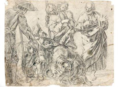 Attribué à Bernardo STROZZI dit Il CAPUCINI GENOVESE (1581 - 1644)