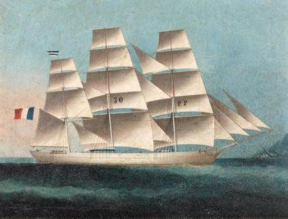 ECOLE DE HONK-KONG du XIXème siècle