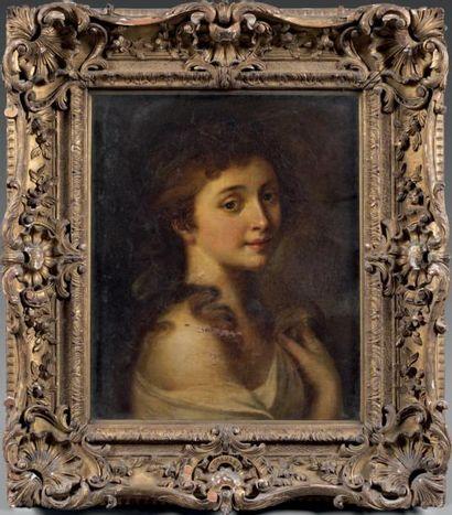 Ecole ANGLAISE du début du XIXème siècle, entourage de Joshua REYNOLDS Portrait de...