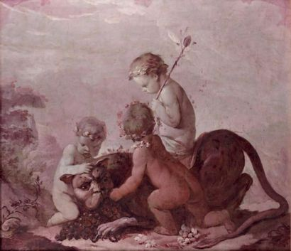 Ecole VENITIENNE du XVIIIème siècle, suiveur de Giulio CARPIONI