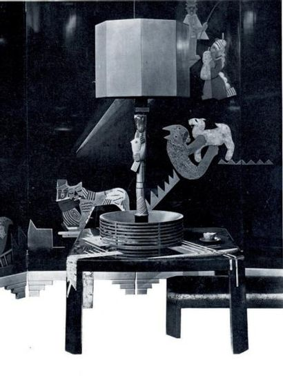LAMBERT RUCKI Jean (1888-1967) pour DUNAND Jean (1877-1942) «Rencontres». Étude pour...
