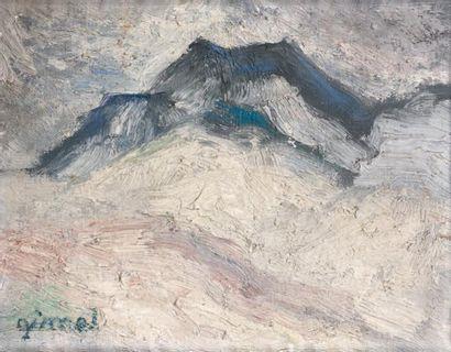 GIMEL Georges (1898-1962) «Vue de montagne». Huile sur toile. Signée en bas à gauche....
