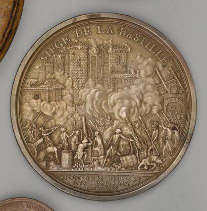 Médaille uni face en laiton: