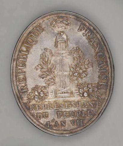 Médaille du Conseil des Anciens, ovale, en...