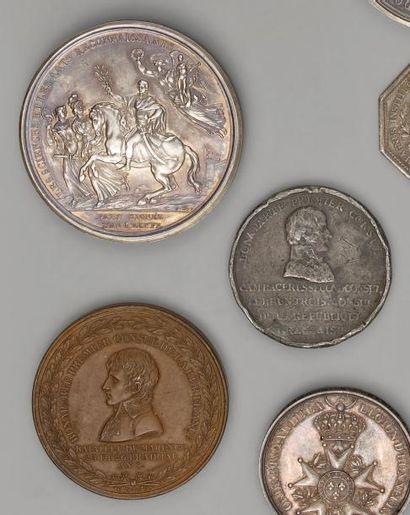 Deux médailles à l'effigie de Bonaparte Premier...
