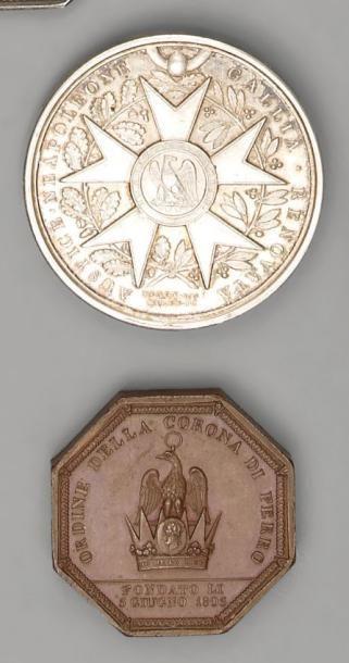 Jeton octogonal en bronze, commémoratif de...