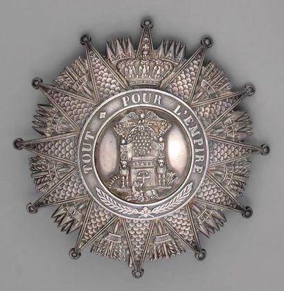 Plaque de grand croix de l'ordre de la Réunion...