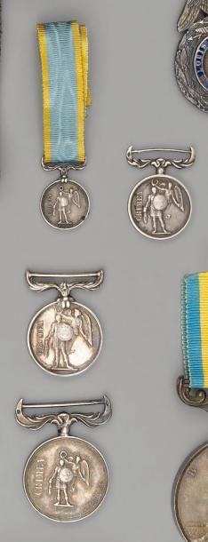 Six Médailles de Crimée miniatures, 1854,...