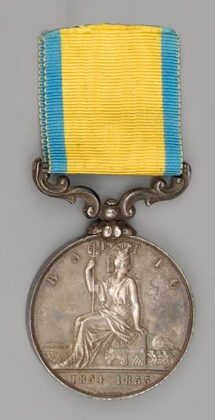 Médaille de la Baltique, 1854/1855, en argent...