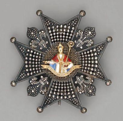 Plaque de chevalier de l'ordre de Saint-Janvier...