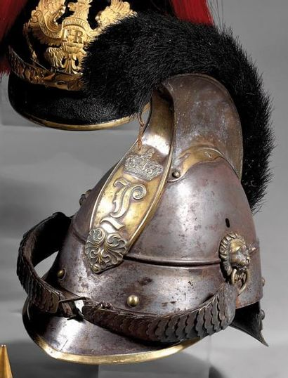 Casque de cuirassier bavarois modèle 1842,...