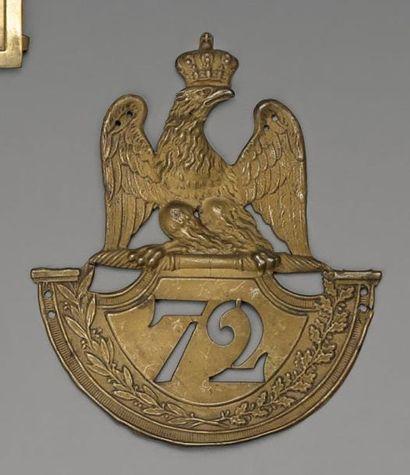 Plaque de shako modèle 1812 à soubassement...
