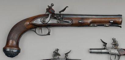 Pistolet d'officier général à silex, modèle...