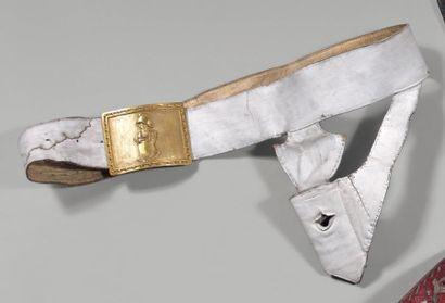Ceinturon porte-épée d'officier du génie,...