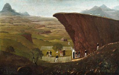 Huile sur toile: Vue du tombeau de Napoléon...