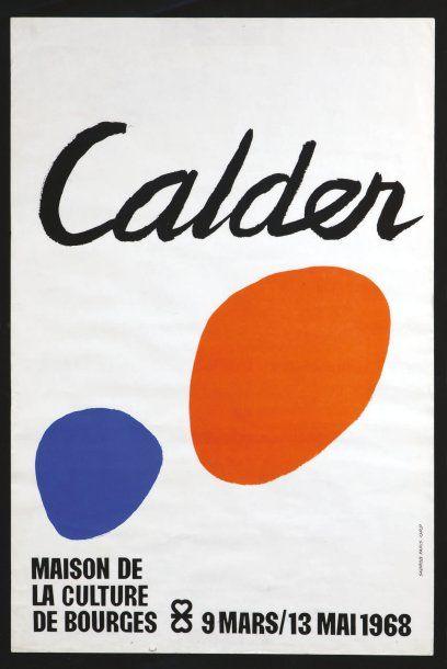 CALDER Alexander (1898-1976) Affiche, lithographie en couleurs pour la « Maison de...