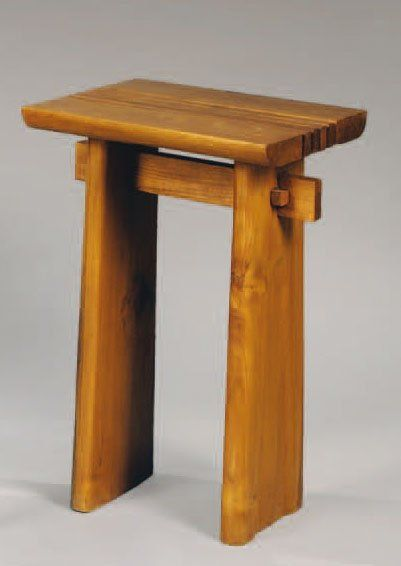 TRAVAIL FRANÇAIS 1950 Petite table en chêne,...