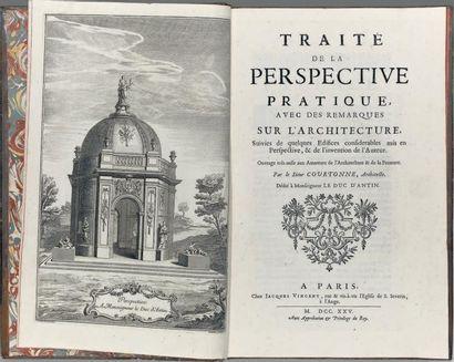 [ARCHITECTURE]. COURTONNE (Jean). Traité...