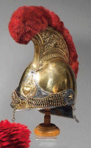 Casque de carabinier modèle 1856, bombe et...