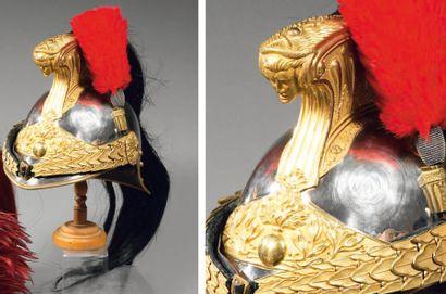 Beau casque d'officier de dragon modèle 1872,...