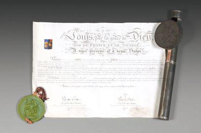 Lettres patentes de Vicomte accordées à Joseph...