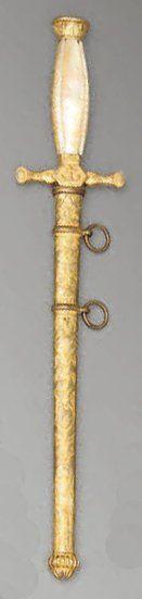 Dague d'officier de marine, croisière droite...