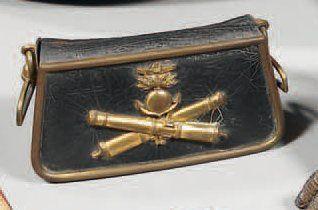Coffret de giberne d'officier d'artillerie...