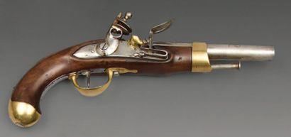 Pistolet à silex de cavalerie modèle an XIII,...