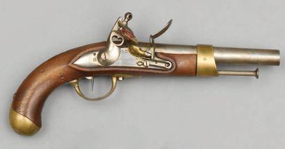 Beau pistolet à silex de cavalerie modèle...