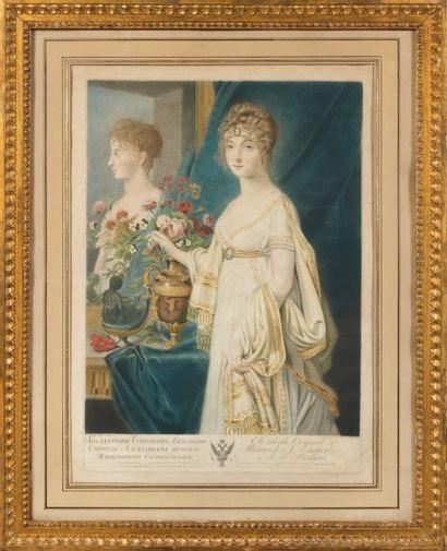 Aquatinte : L'Impératrice Elisabeth épouse...