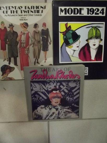 Réunion d'albums sur la mode vintage et les...