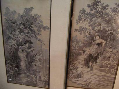 Deux tableaux tissés, Staron et Meyer à Saint-Etienne,...