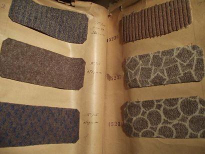 Sept recueils d'échantillons, ancienne maison...