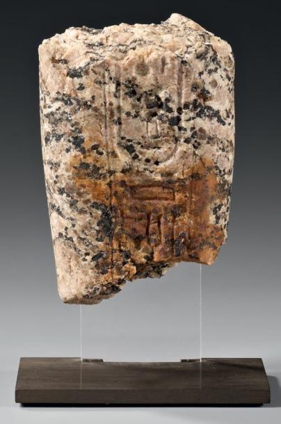Fragment de jambe portant une colonne ventrale...