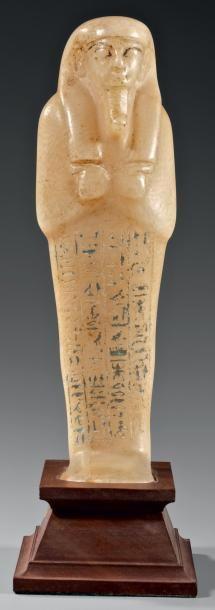 Chaouabti inscrit sur quatre colonnes verticales...