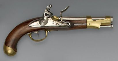 Rare pistolet de cavalerie à silex modèle...