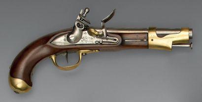 Pistolet de cavalerie à silex modèle an IX,...