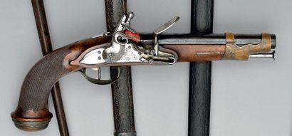 Pistolet à silex de mousquetaire de la 2e...