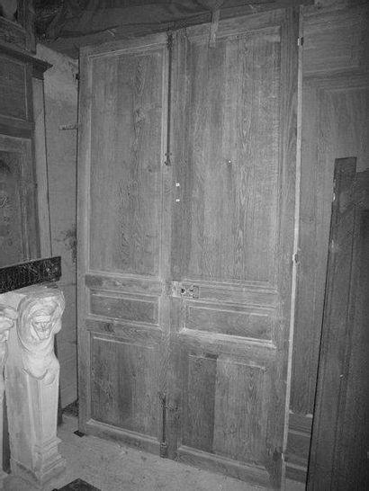 Doubles portes en chêne H. 256 - L. 140 ...
