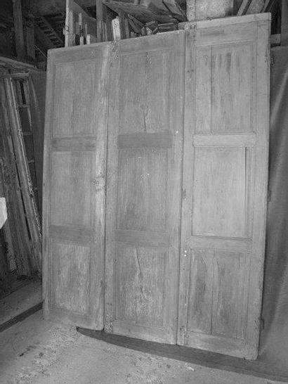 Façade de placard 3 portes en hêtre et peuplier...