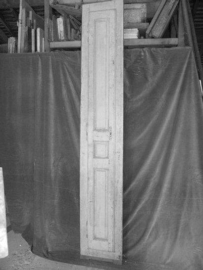 Façade de placard en chêne peint H. 245 -...