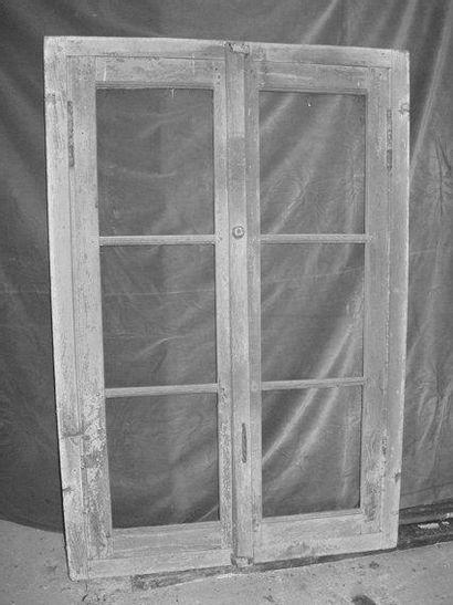 Fenêtre en chêne H. 142 - L. 95 cm