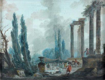 Attribué à Louis Gabriel MOREAU (Paris 1740 - 1806)