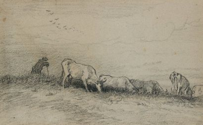Charles Emile JACQUE (Paris 1813 - 1894)