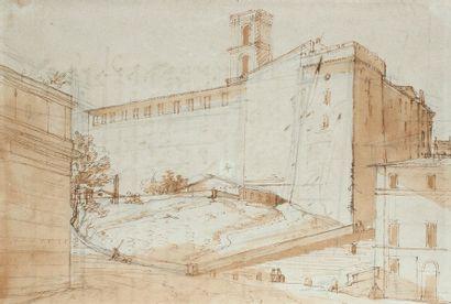 Victor-Jean NICOLLE (1754 - 1826) Attribué à Vue du Capitole avant le dégagement...